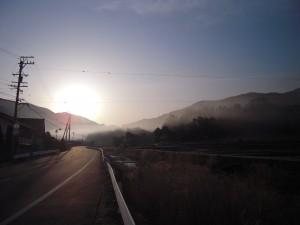 山里の早朝
